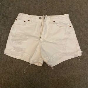 Abercrombie High Rise Girlfriend Jean Shorts